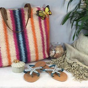 "❤️💛💙OLIVIA MILLER"" Starfish Thong Sandals"